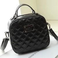Women's leather handbag 2014 spring and summer female handbag designer brand shoulder bag women messenger bag plaid vintage