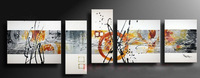 5pc MODERN ABSTRACT HUGE WALL ART OIL PAINTING ON CANVAS C199
