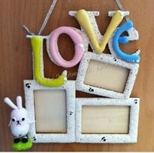 Child diy wooden handmade model laser sculpture love photo frame material for kids toys(China (Mainland))