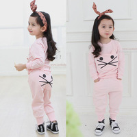 2-6 years free shipping high quality 1pc retail clothing set new 2014 spring  children hoodies