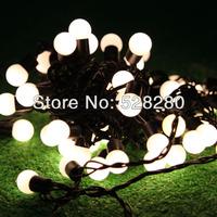 72LEDs 10meters 6W LED ball bulb string rope lighting holiday decoration lights warm/cool white blue colorful 110V 220V
