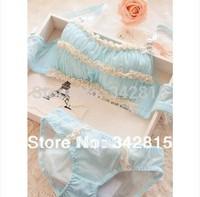 Special!! 2014 new fashion Japan/Korea Sexy Secret Lace anti emptied girls underwear set black, blue, pink,push up bar set