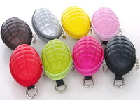 Handy Grenade Bomb Style Bag Zippered Key Coin Pouch Purse Wallet Pocket