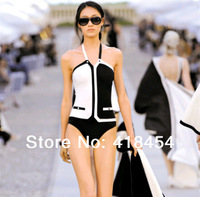 Small fashion swimwear fashion bikini sexy triangle   swimsuit female black-and-white patchwork