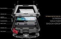 ALUMINUM METAL W/ GORILLA GLASS WATER SHOCK DUSTPROOF CASE FOR IPHONE 4G 4S 5 5S