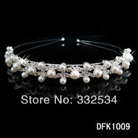 Newest 2014 Bridal Crown Pearls Rhinestone Crystal Women Accessories Bridal Jewelry Women's Crown Tiaras Bridal Set 64a13