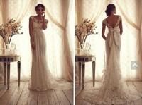 free shipping new fashion 2014 bride romantic vestidos de novia formal long lace party elegant lace weddong Dress bridal gown