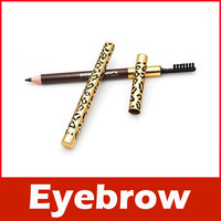 Leopard Waterproof Brown Eyebrow Pencil With Brush Make Up
