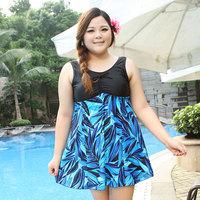 many color choose 2014 hot Large plus size 4XL-7XL oversize swimwear one-piece dress,spring summer women's swimwear extra large