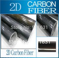 "24""x50"" 60x127cm Car Glossy 2D Carbon Fiber Vinyl Foil Carbon Fiber Wrapping Film High Quality Calendared PVC For Car"