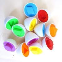 New 6pcs Mixed Shape Wise Pretend Puzzle Smart Learning Education Eggs Baby Kid Learning Kitchen Toys Tool