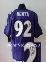 New Signed Autographed Jersey Elite #92 Haloti Ngata Cheap Wholesale American Football Jerseys Mix Order Free Shipping