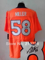 New Signed Autographed Jersey Elite #58 Von Miller Cheap Wholesale American Football Jerseys Mix Order Free Shipping