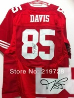 New Signed Autographed Jersey Elite #85 Vernon Davis Cheap Wholesale&Retail American Football Jerseys Mix Order Free Shipping