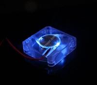 100Pcs EVERCOOL 4010 4cm 40mm cool blue LED fan Fan 4CM 40X40X10 mm 12V 0.09A