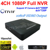 free shipping  DHL10pcs/lot!P2P 4CH NVR Smart Mini Network Video Recorder HDMI /VGA Output 4ch 1080P Onvif NVR H.264 System