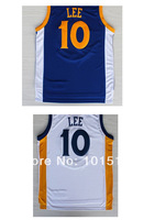 David Lee Jersey Golden States #10 Lee Basketball Sleeveness Shirts New Material Free Shipping