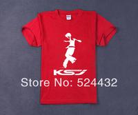 KSJ skating jersey cotton t-shirt 100% cotton t-shirt