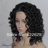 Handsewn Synthetic FULL LACE FRONT Wigs ShortNatural Kanekalon Fiber Hair Cosplay Wig