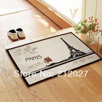 Free shipping ZAKKA Coton Linen Anti Slip floor mat Effiel tower slip-resistant Door mat /carpet mats /rug mat 60X40CM