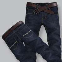 New arrival autumn and winter male plus size denim trousers fashion trousers fat 44 jeans