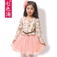 Children's clothing female child autumn 2013 skirt female big boy one-piece dress child princess dress puff skirt q16