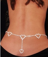 Min order is $10 Europe and the detonation model set auger heart waist chain crystal waist chain