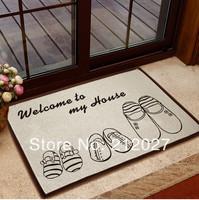 Free shipping 60X40CM Coton Linen Anti Slip Door mat /floor mat ,Slippers slip-resistant /carpet mats /rug mat