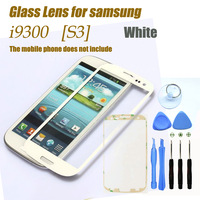 Original White Outer Touch Screen Top Glass for Samsung Galaxy S3 SIII i9300 i535 L710 i747 T999 + 8Tools + Free Adhesives