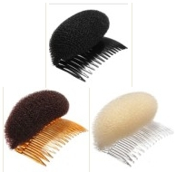 Newest 12pcs/lot DIY Retail Black/Brown/Beige Hair Shapers Insert Comb Styling Forks Hair Accessory