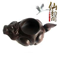 Calamander wood carving mahogany pi xiu ashtray smoking set ashtray office furniture decoration business gift