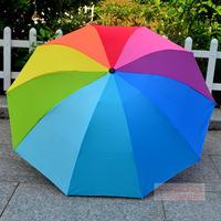 popular high quality three folding rainbow umbrellas