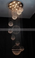 D1.0*H2.4M The large villa chandeliers modern minimalist chandelier penthouse living room crystal
