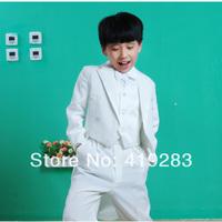 New 2014 child tuxedo set male flower girl formal dress clothes