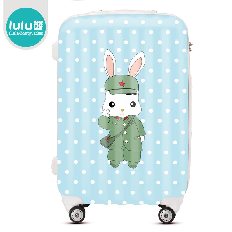 "Free shipping Lulu luggage ultra light check box universal wheels ABS+PC trolley luggage fashion suitcase travel bag20""24""28""(China (Mainland))"