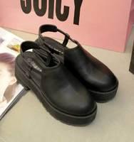 Ulzzang high-heeled HARAJUKU preppy style platform single platform casual shoes women's shoes