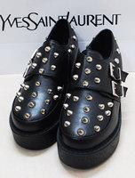 Zipper amo HARAJUKU soft underground rivet buckle platform buckle single shoes