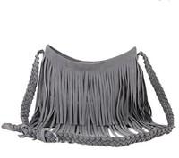 Free shipping!Hot sell Tassel women handbags Cross Body Leather shoulder bags fashion Messenger Bags