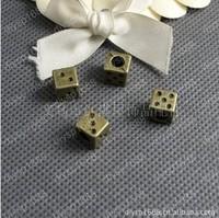 50pcs/lot  9*9*9MM Zinc alloy bead Antique Bronze Plated big hole bead Jewelry Findings JJA1470