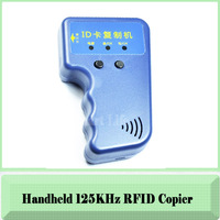 Free shippping--Handheld 125Khz EM4100 RFID copier / writer / duplicator (free 2pcs Writable key fob)