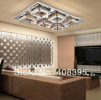 Best Sale LED Crystal Flush Mount, Modern Transparent Laser Processing ,Light Fixtures Guaranteed 100%+Free shipping!