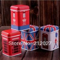 Freeshipping Vintage Square tin box /Collectables/ mini iron case/storage case/pills storage box coin box 12pcs/lot TB004
