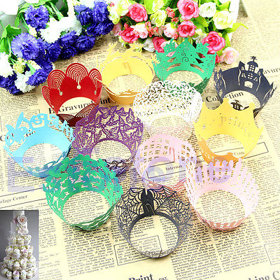 Free Shipping 60pcs/lot Vintage Style Hollow Out Cake Paper Wrapper Cupcake Wedding Decor Supplies(China (Mainland))