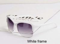 Free shipping(2pcs/lot)6631 For men&women half plastic frame retro sunglasses/frog mirror sunglasses