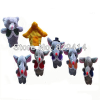 14pcs/lot Belling The Cat Unisex Cloth Animal Finger Puppets Learning & Education Finger Puppet for Baby #YY0840