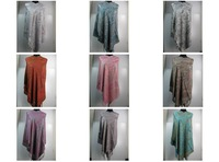 magic women wear cotton blend plaisey  SCARF scarves Shawl Wrap poncho stole SOFT  180*70cm  1pcs  #6010