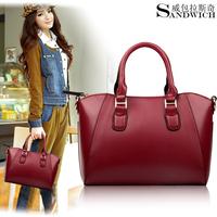 Aliexpress Shopping Festival 2014 Fashion Women Messenger Bag,Mango Plaid Bucket Women Leather Handbags Drop Shipping Available