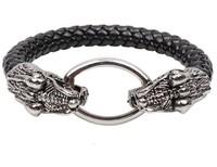 8 mm snake leather bracelet snake head round men's bracelet wholesale fashion bracelets Dragon