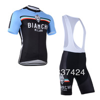 2014 Bianchi Men camisa maillot cycling bib Short jersey ropa ciclismo maillot clothing set bicicletas Bike Bicycle Clothes #003
