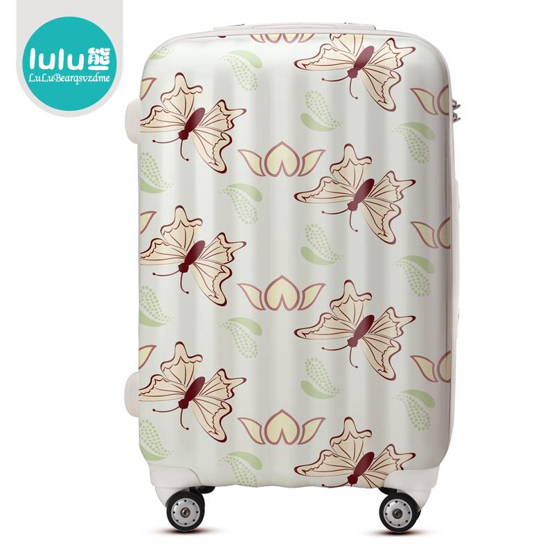 "Free shipping Lulu women's ultra-light universal wheels ABS+PC trolley luggage fashion luggage travel bag suitcase20""24""28""(China (Mainland))"
